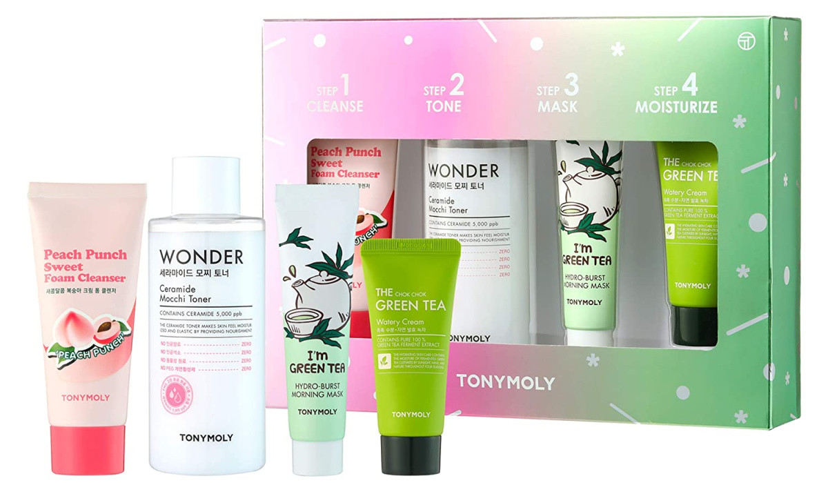 tonymoly skincare set with box