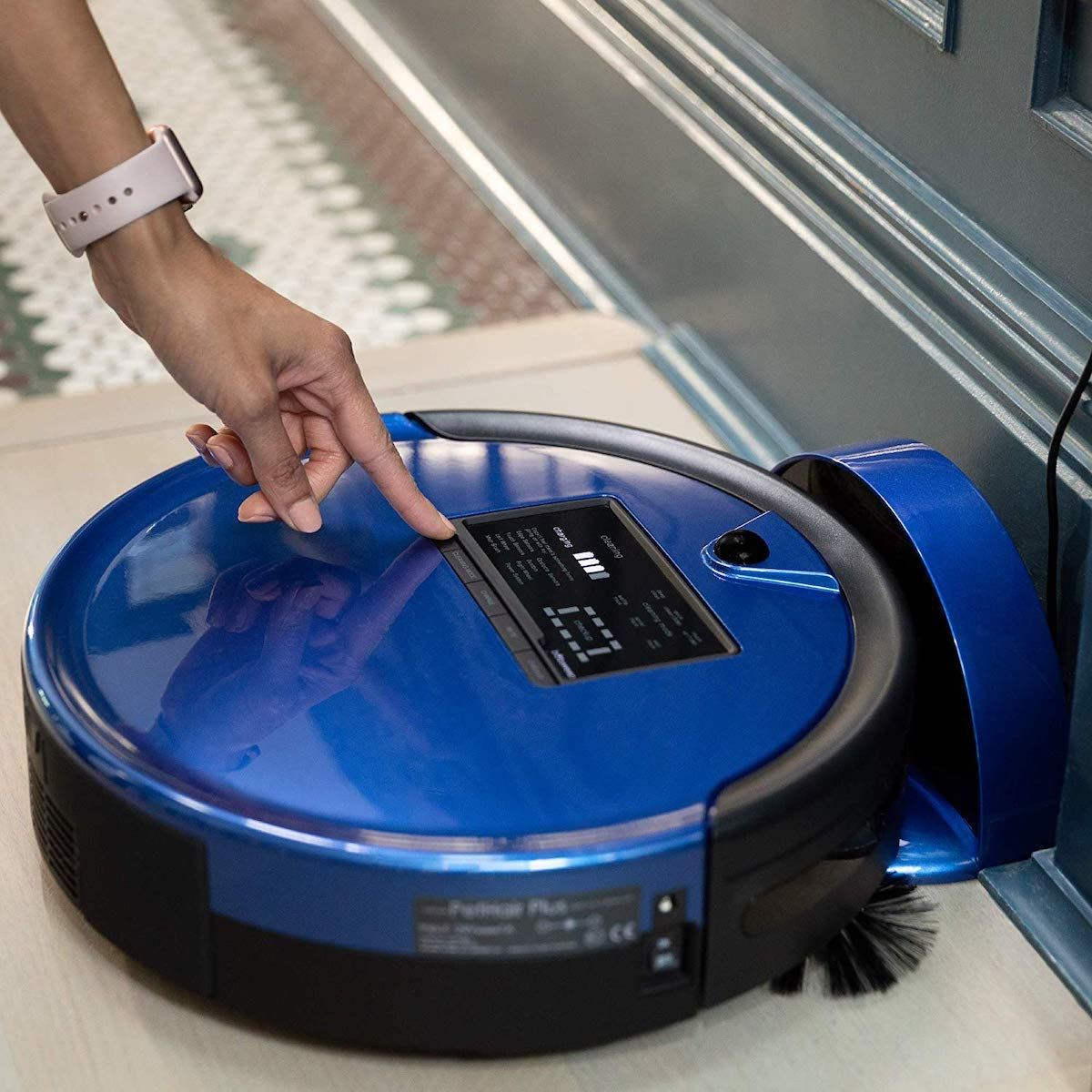 bObsweep bObi Pet Robotic Vacuum Cleaner & Mop in Blue