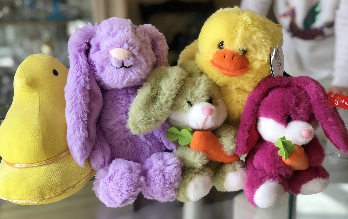 five Plushible Stuffed Animals