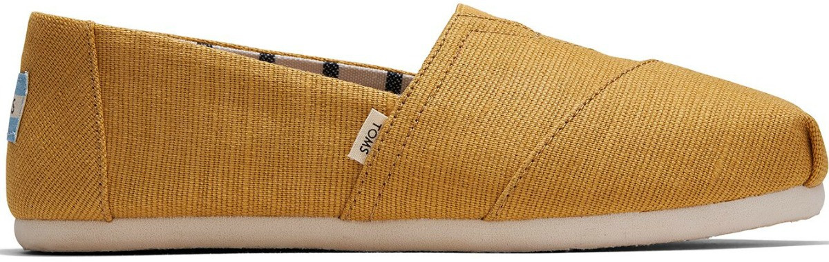 Women's golden canvas shoe from TOMS