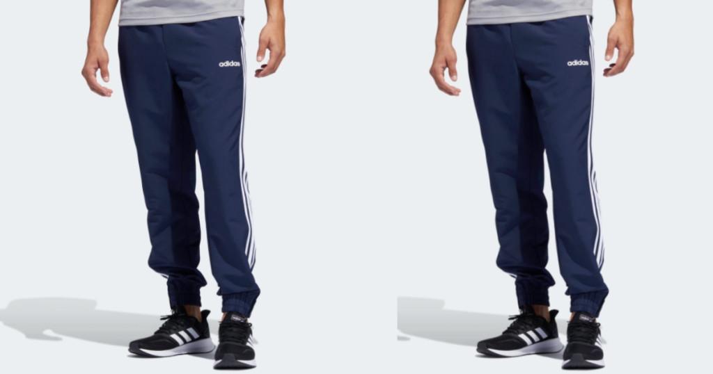 adidas mens 3-stripe joggers