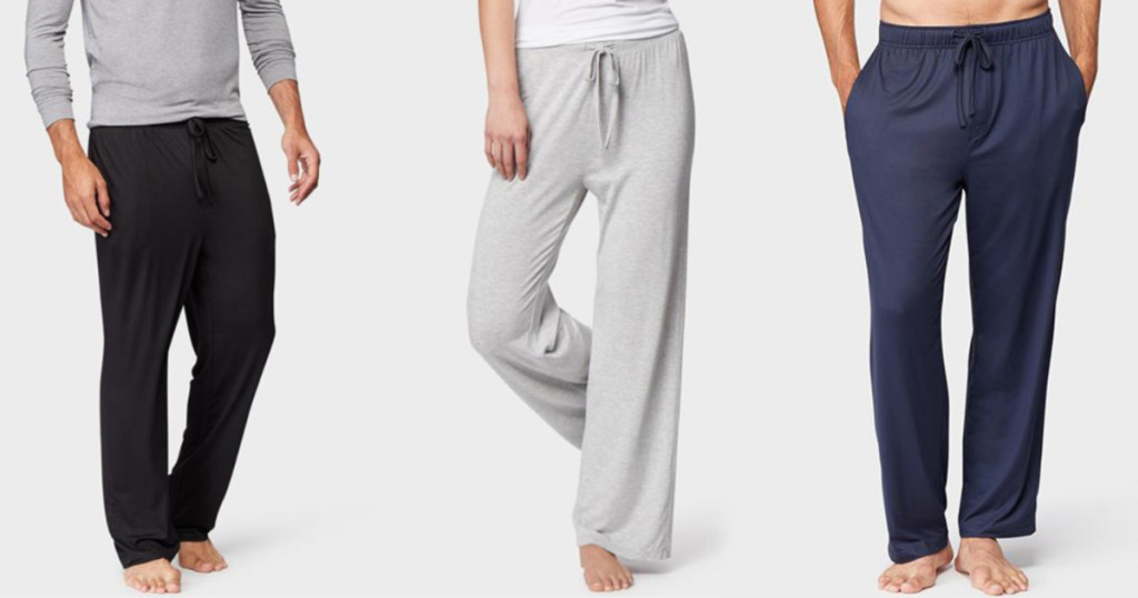 black gray and blue lounge pants